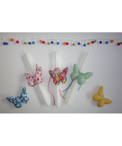 EASTER CANDLE BUTTERFLY KEY CHAIN