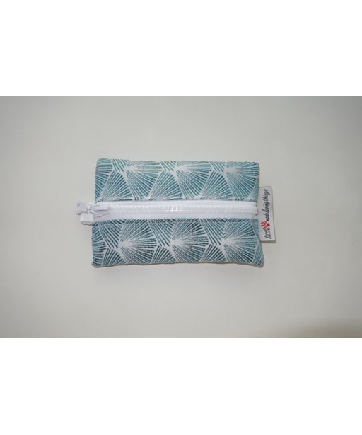 SMALL TISSUE CASE WITH ZIPPER-GEOMETRICAL