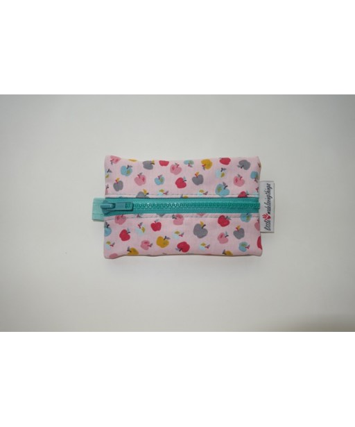 SMALL TISSUE CASE WITH ZIPPER-APPLES
