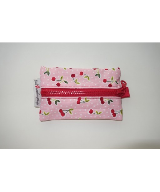 SMALL TISSUE CASE WITH ZIPPER-CHERRIES
