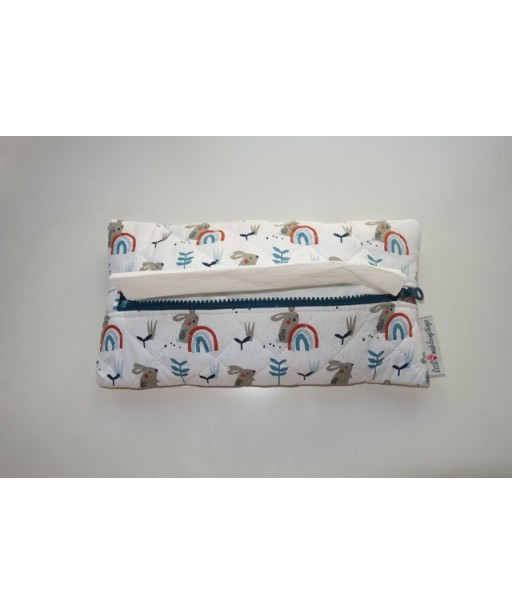 CAPITONE TISSUE CASE WITH ZIPPER, RABBITS