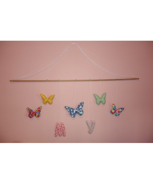 BUTTERFLIES GARLAND AND MONOGRAMS