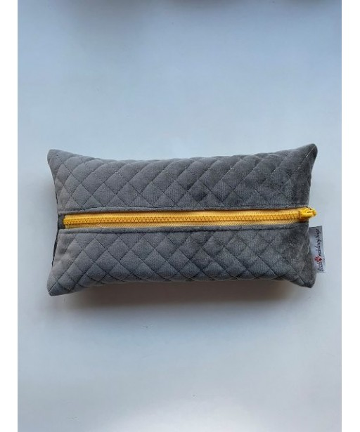 CAPITONE TISSUE CASE GREY YELLOW