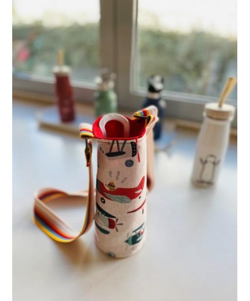 Υφασμάτινη θήκη μπουκαλιού με ρυθμιζόμενο ιμάντα_aeroplanes