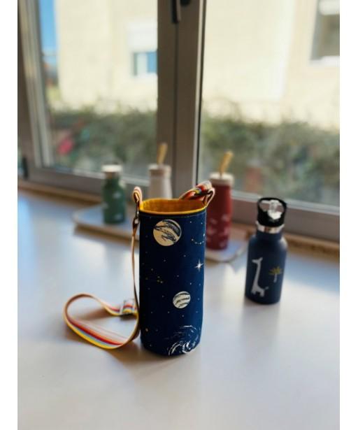 Υφασμάτινη θήκη μπουκαλιού με ρυθμιζόμενο ιμάντα_space