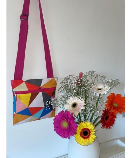 Τσάντα χιαστί με ρυθμιζόμενο ιμάντα_multi color