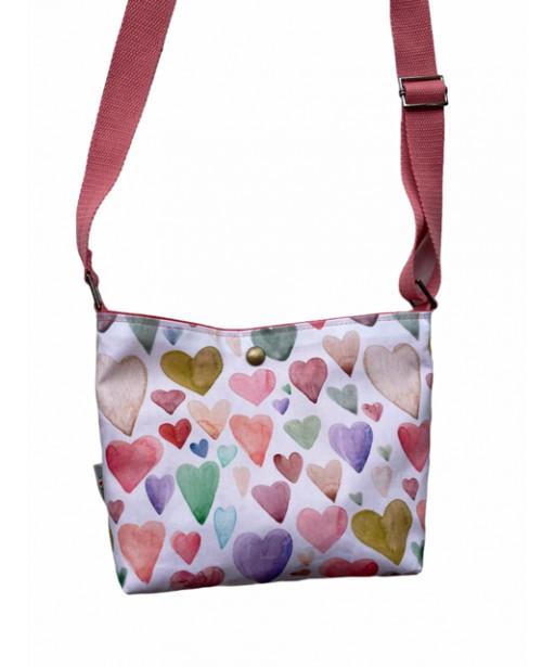 Τσάντα χιαστί heartbeat
