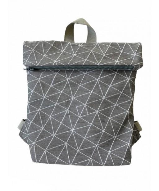 Σακίδιο πλάτης _ geometrical shapes grey