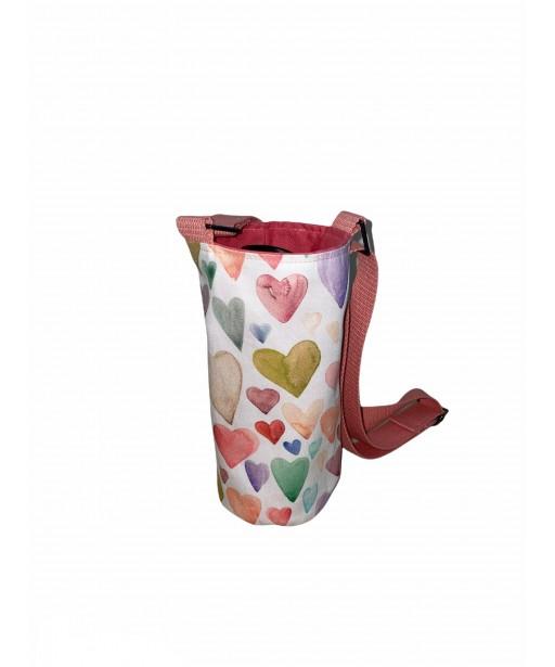 Bottle holder with adjustable strap_heartbeat