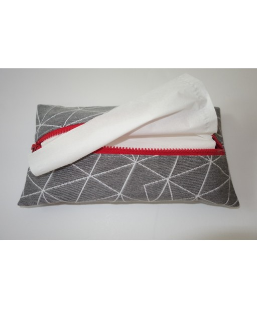 ZIPPER TISSUE CASE GREY