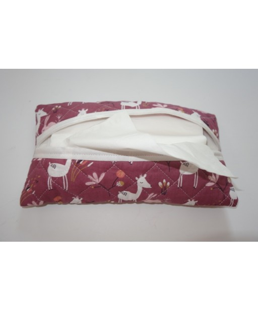 DOUBLE SIDED CAPITONE TISSUE CASE, DEER